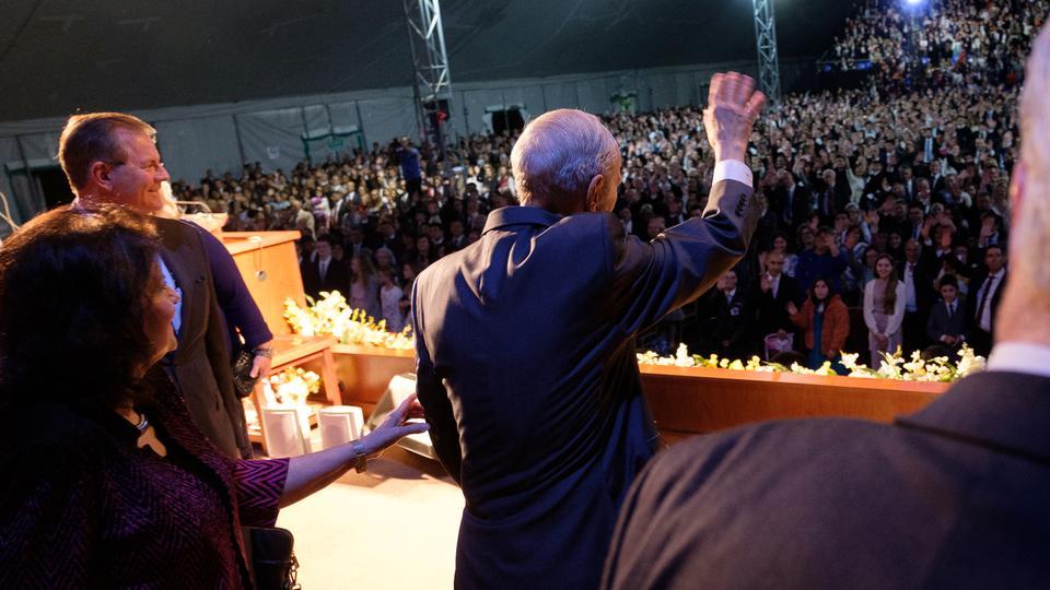 Presidente Nelson en Uruguay