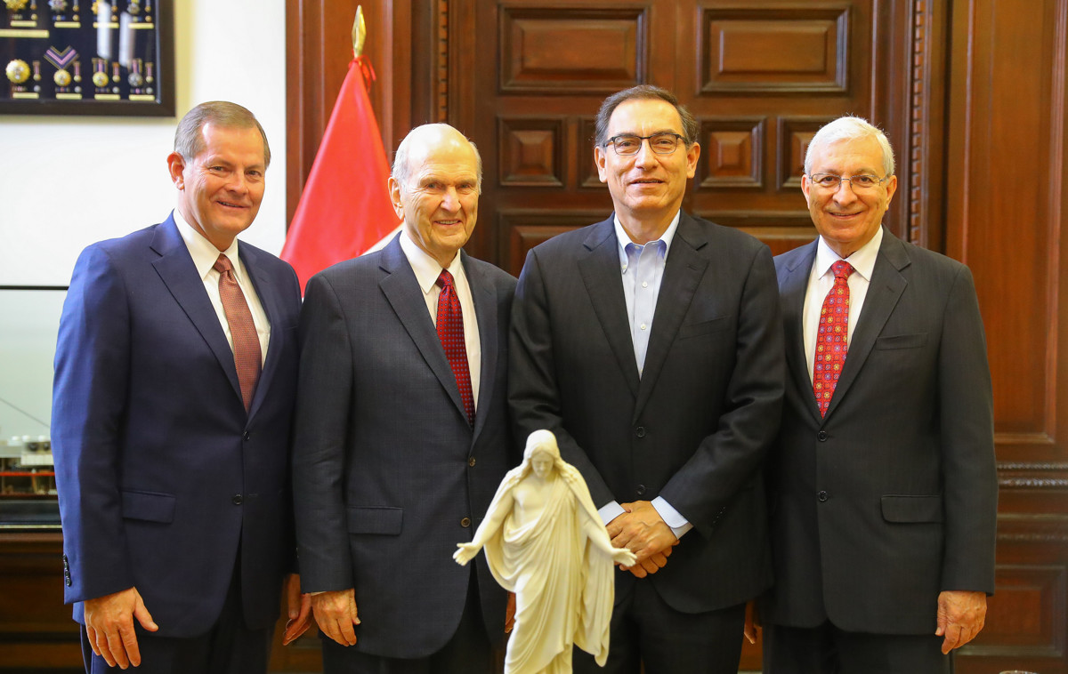 Presidente Nelson y el Presidente del Perú
