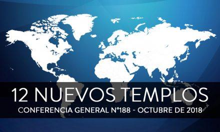 Presidente Nelson anuncia 12 nuevos templos