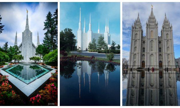 20 imágenes serenas de los templos reflejados en el agua