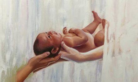 Una hermosa pintura sobre la santidad de la maternidad se hizo viral en las redes sociales