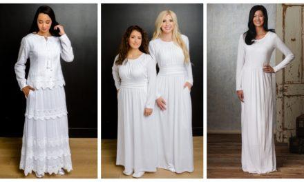Más de 30 hermosos vestidos para el templo que a toda mujer Santo de los Últimos Días le encantaría usar