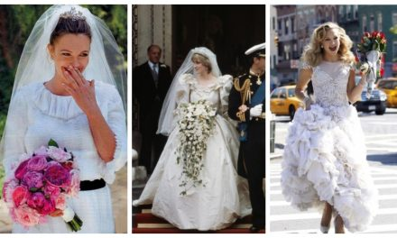 20 mujeres famosas que usaron vestidos de novia modestos