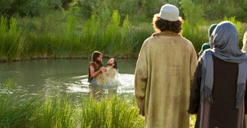 jesus y bautismo