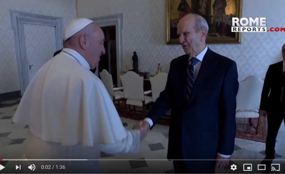 Vídeo: Vaticano publica el video de la visita del Profeta y el Papa Francisco