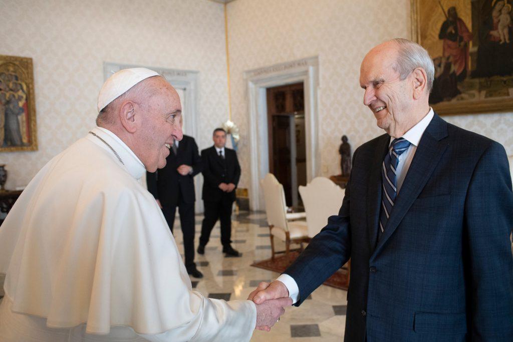 Presidente Nelson e o Papa