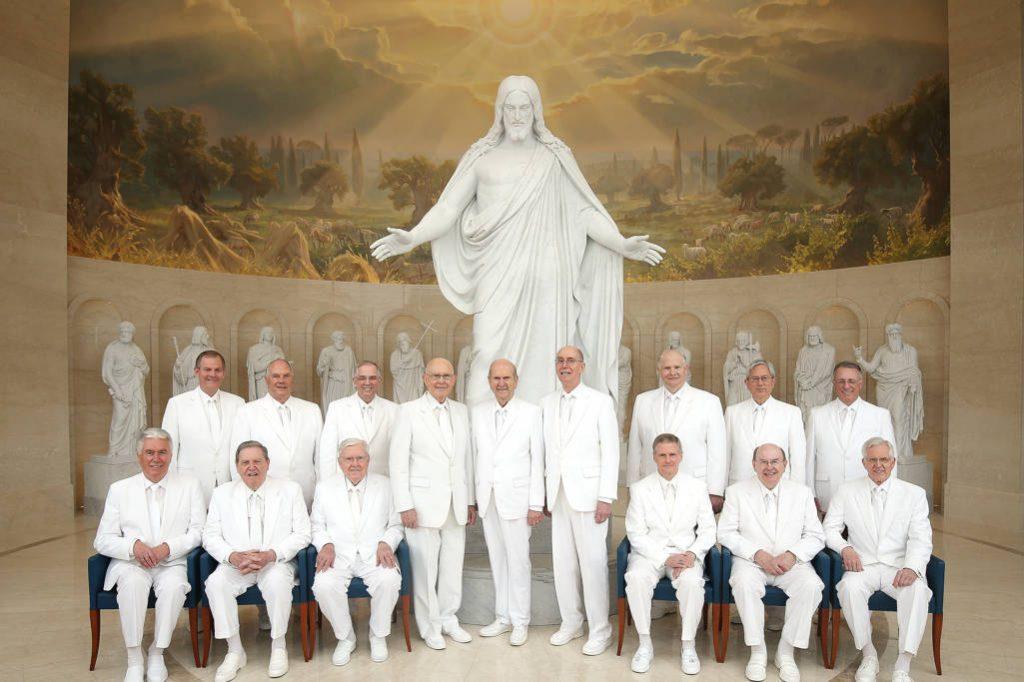 Foto icônica da Primeira Presidência e do Cuorum dos Doze em Roma