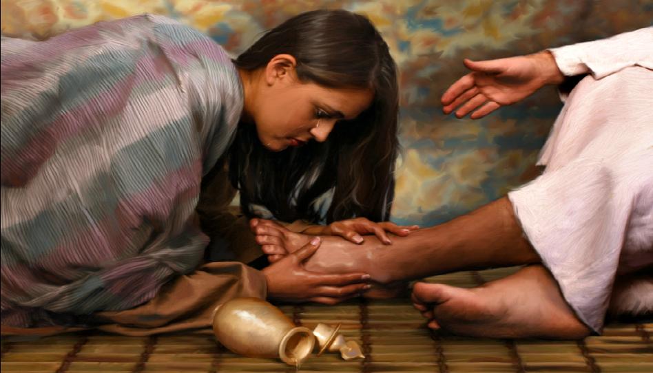 jesus y la mujer que secó sus lagrimas