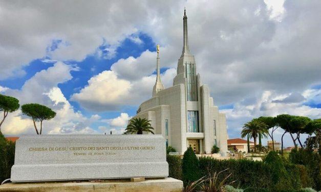 """El Templo de Roma es un """"hito"""" en la historia de los Santos de los Últimos Días, dijo el Presidente Nelson al salir de Italia"""
