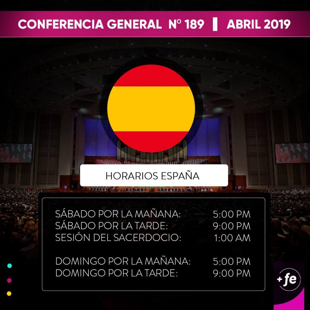Horarios de la Conferencia General