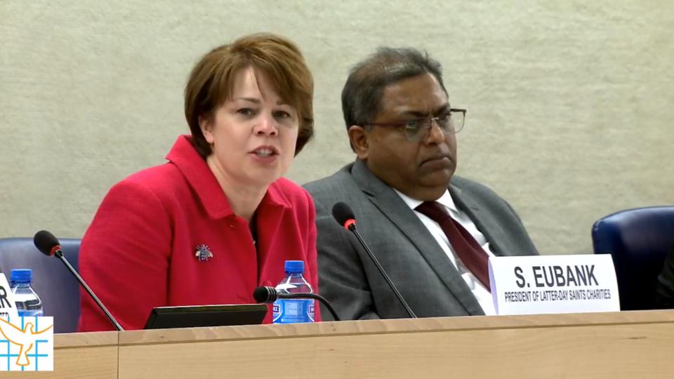 Sharon Eubank en la ONU.