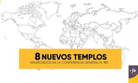 Se anuncia la edificación de 8 nuevos Templos