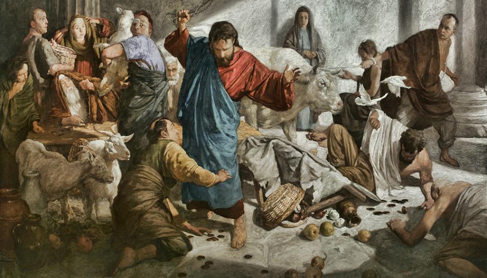 jesus en el mercado