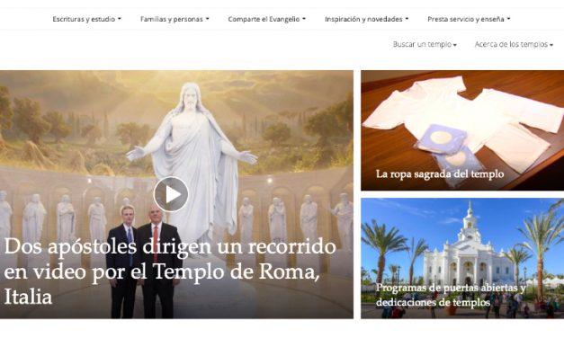 La Iglesia lanza un nuevo sitio web sobre los templos