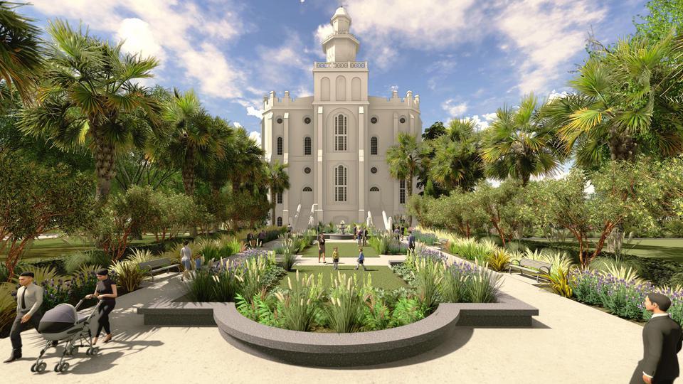 Templo de St.George, Utah.