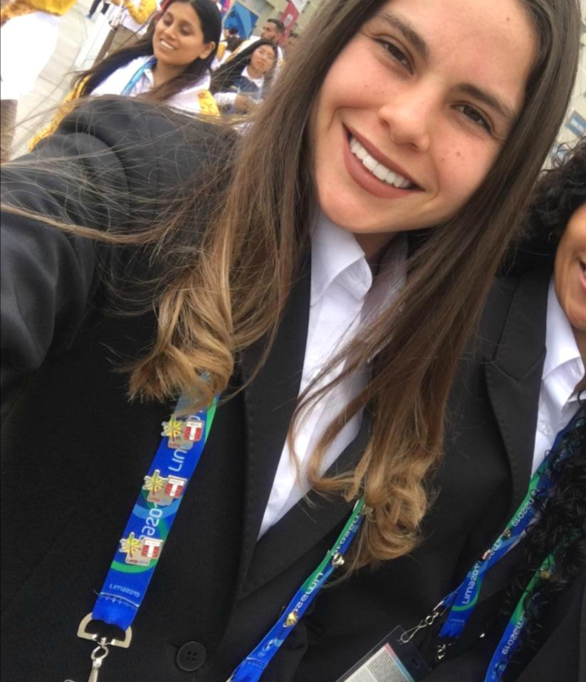 Joven de la Iglesia de Jesucristo en los Juegos Panamericanos