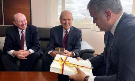Lo que le pidió el presidente de Colombia al presidente Nelson de la Iglesia de Jesucristo
