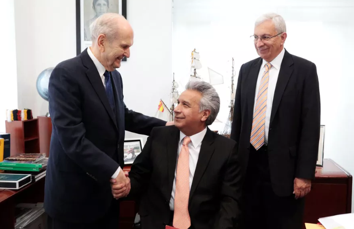 Presidente de Ecuador y presidente Nelson