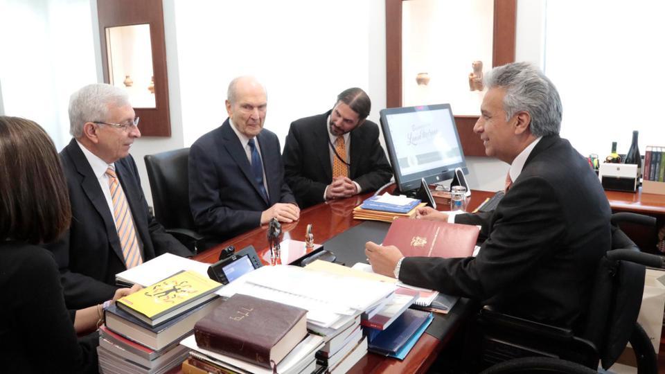 Presidente Nelson y Presidente de Colombia