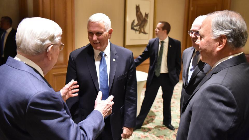 Líderes de la Iglesia se reúnen con el vicepresidente de los Estados Unidos