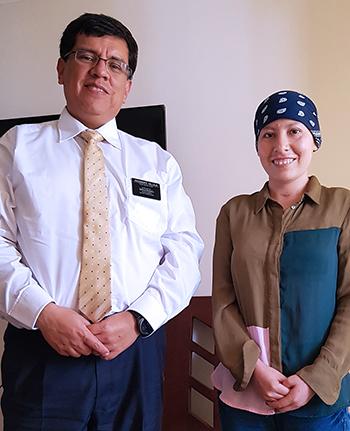 misionera con cáncer