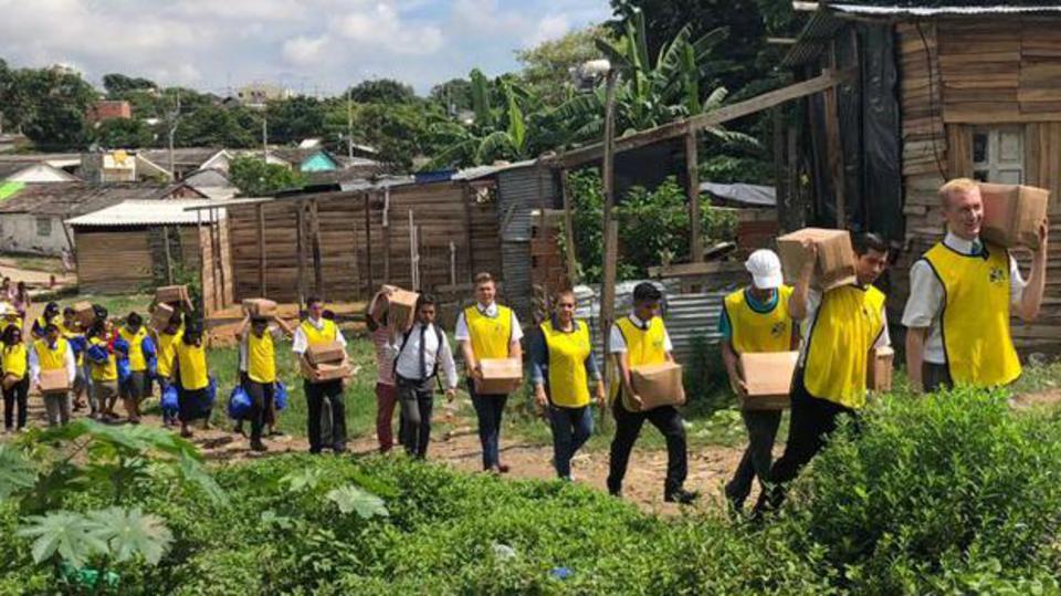 venezolanos en Colombia- ayuda de la Iglesia de Jesucristo