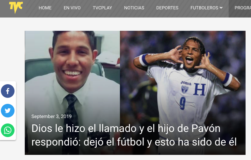 Carlos Pavón futbolista misionero