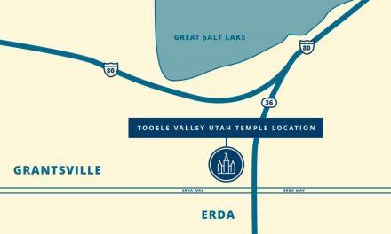 Se anuncia el sitio del templo de Tooele Valley, Utah
