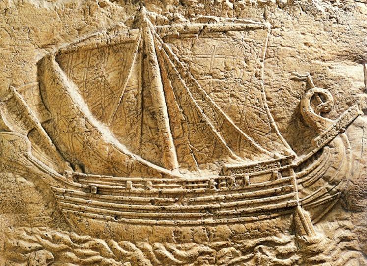 Barco mercante fenicio, siglo IV a. C.