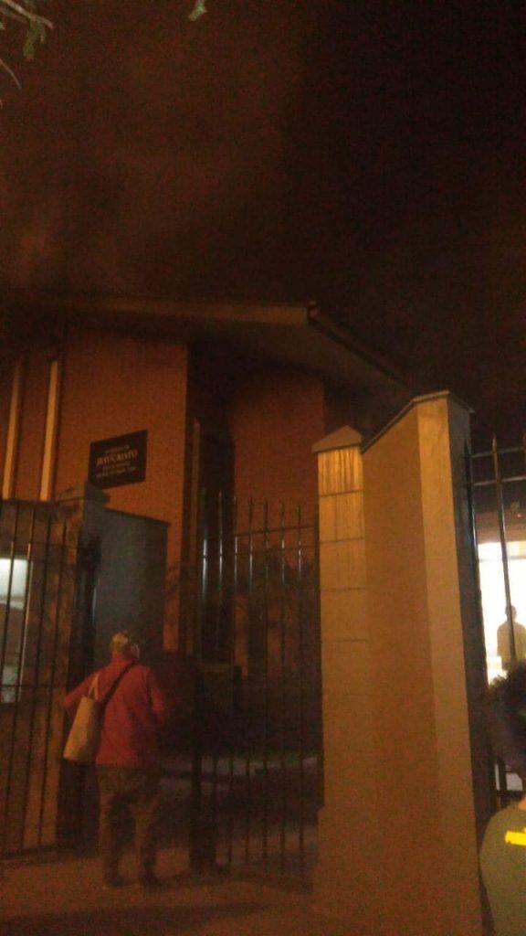 Un Centro de reuiones de la Iglesia de Jesucristo en Lima Perú se incendio este viernes 13 de septiembre. No se han reportado personas afectadas.