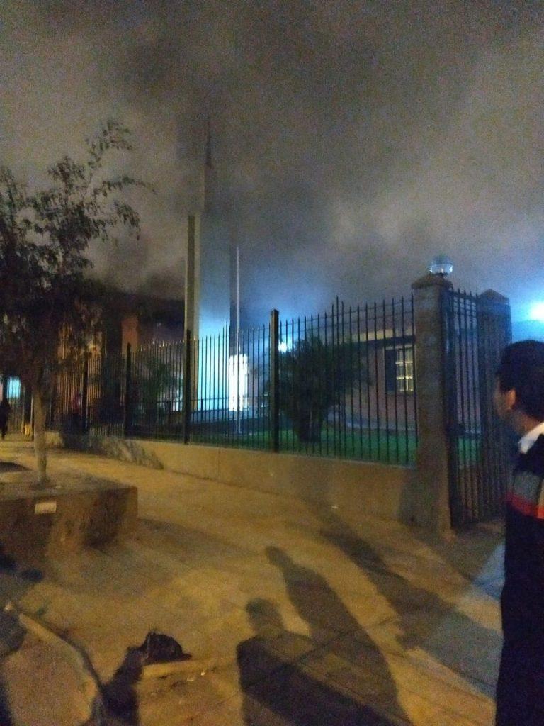 incendio en Centro de reuiones San Juan de Miraflores
