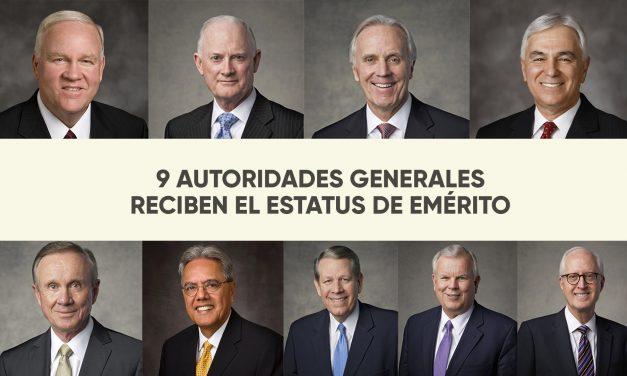 9 Autoridades Generales reciben el estatus de emérito