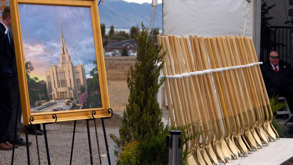 Se realiza la Palada inicial del Templo de Saratoga Springs, Utah