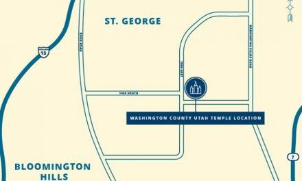 Se anuncia el sitio del Templo del Condado de Washington, Utah