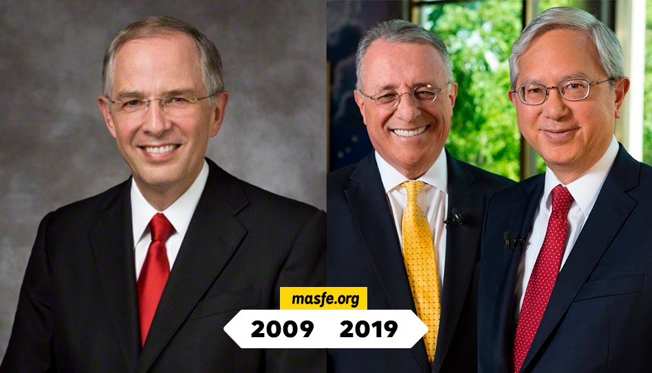 la iglesia de Jesucristo en 2009 vs 2019