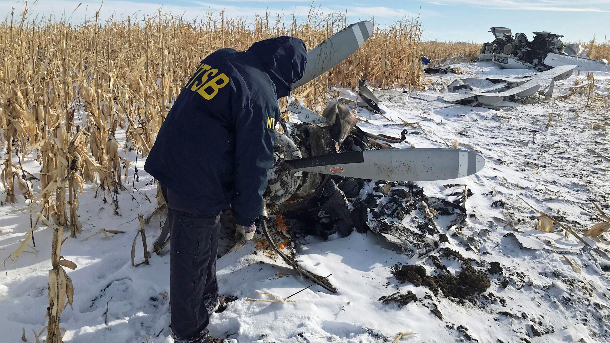 accidente aéreo James Hansen Jr