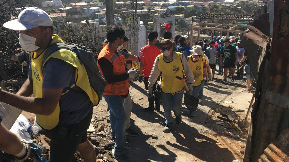 incendio en Chile - mormones