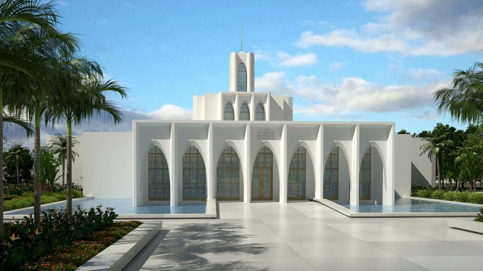 diseño del Templo de Brasilia Brasil