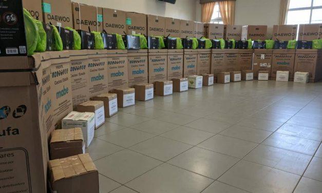 La Iglesia de Jesucristo entrega donación a los afectados del incendio en Perú