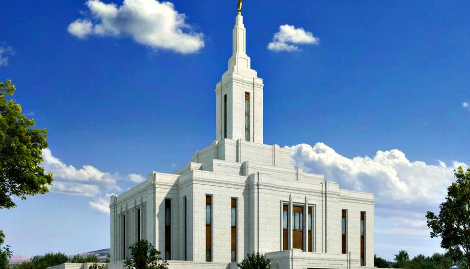 Progreso de la construcción del templo de Pocatello, Idaho