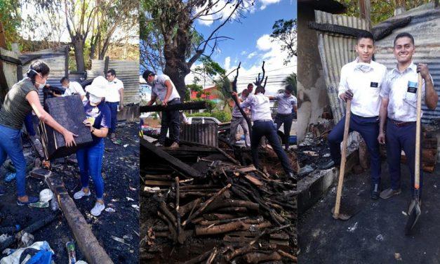 Cómo estos misioneros ministraron a una familia que perdió su casa en un incendio