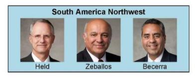 Nueva presidencia de area sudamérica Noroeste