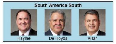 Nueva presidencia de area sudamérica sur