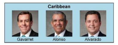 nueva presidencia de area El Caribe
