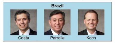 Nueva presidencia de area en Brasil