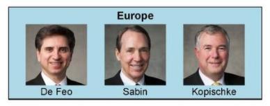 nueva presidencia de area Europa