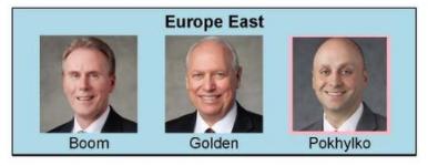 nueva presidencia de area en Europa Este