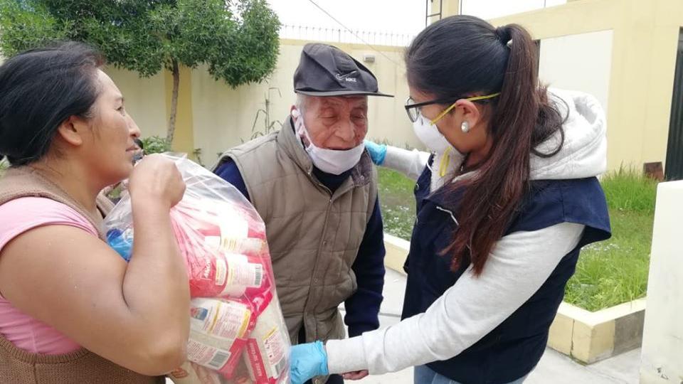 La Iglesia de Jesucristo entrega alimentos a familias de escasos recursos en Perú