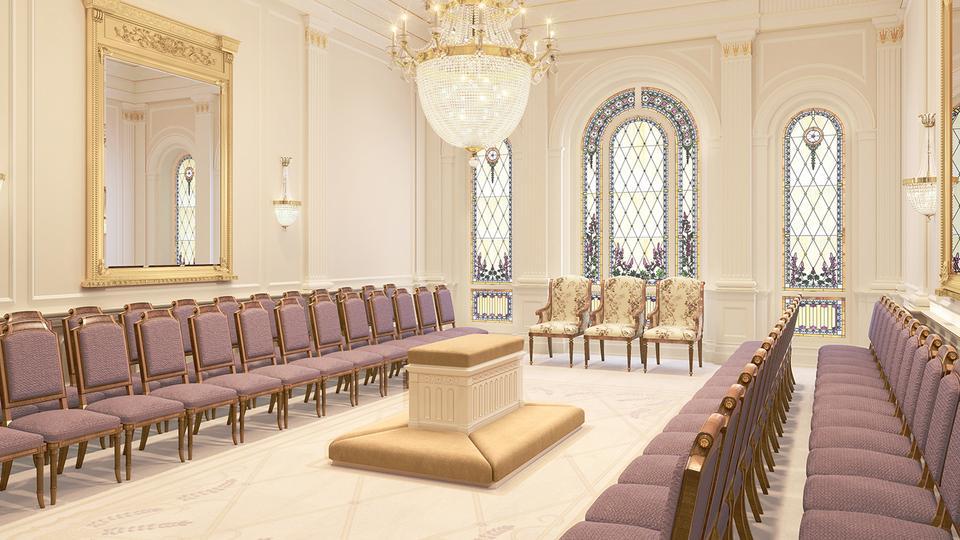 La Iglesia de Jesucristo de los Santos de los Últimos Días ha publicado nuevas representaciones que muestran el diseño interior del Templo del Valle Tooele, Utah.