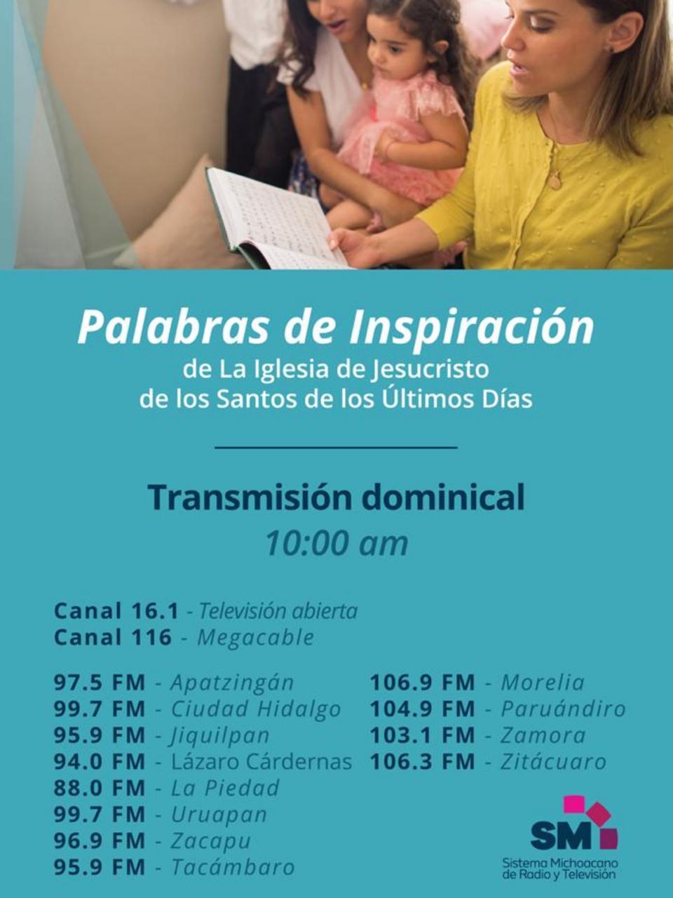 Palabras de Inspiración por radio y tv en México